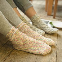 Colorful retro cotton yarn jacquard knitting harajuku socks