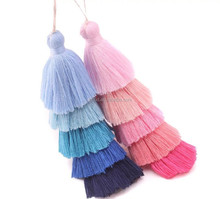 High quality colorful cotton tassel for bag decoration/tassel charm for bag/tassel for handbag decoration