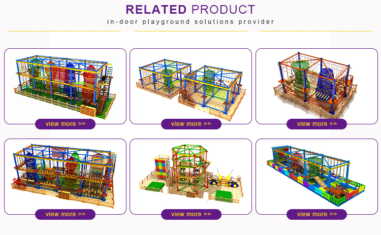 Popular kids indoor adventure ropes course climbing frame for sale