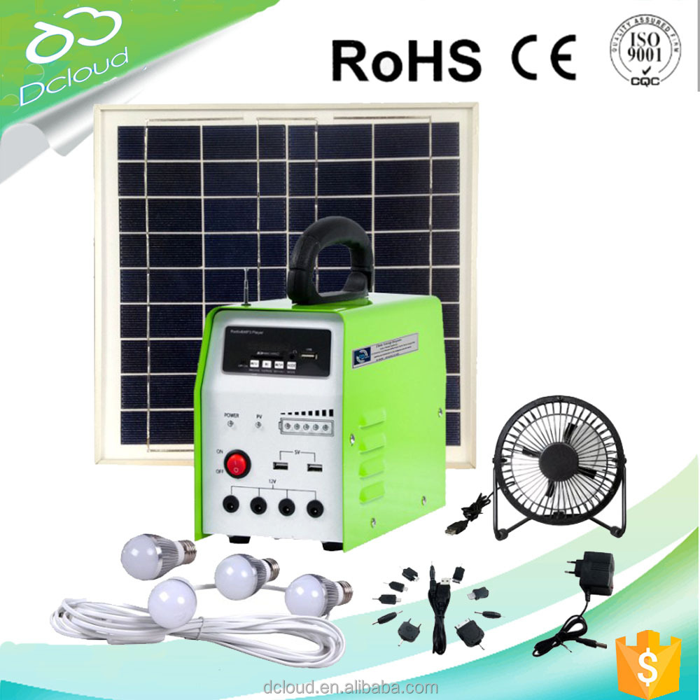 high quality 10w solar panel system with FM radio&MP3 player
