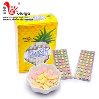 halal pineapple shaped fruity hard candy press candy in box