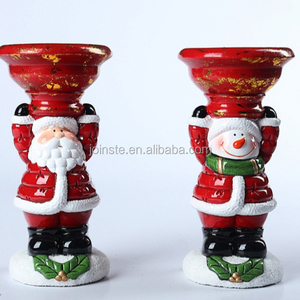 Customized novelty ceramic Christmas Claus ornaments gift
