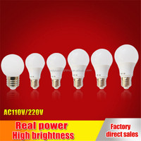 Wholesale led Bulb Lights 3W 5W 7W 9W 12W with 110lm/W CRI80
