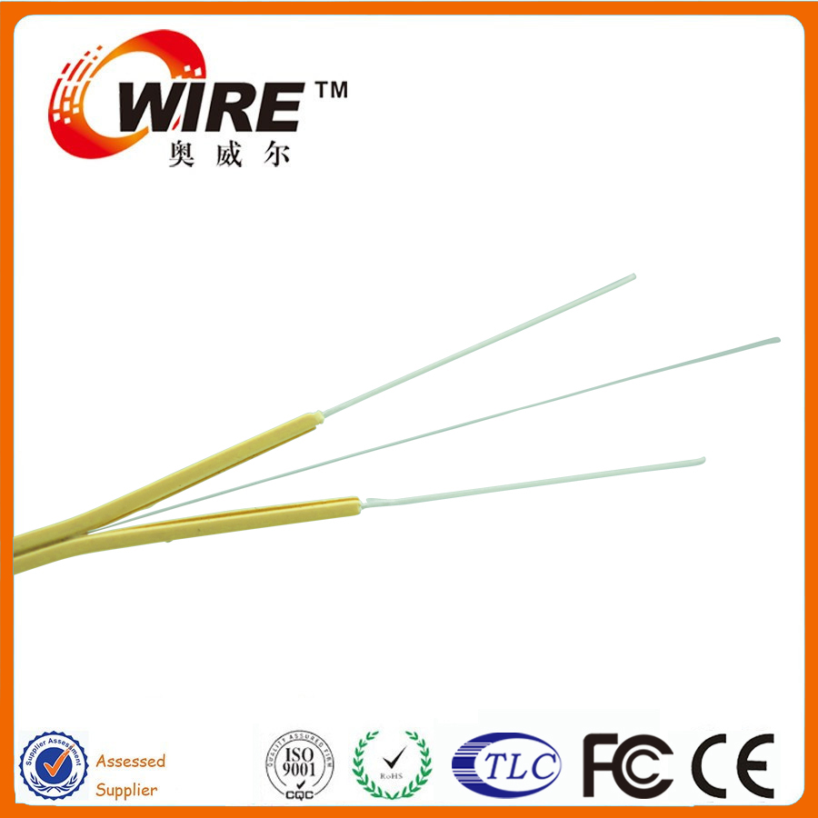 Multifunctional 2 Core Fiber Optic Cable Ftth Drop Plastic
