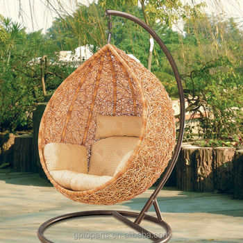 Outdoor Furniture Freestanding Chair Garden Swing Single Seat