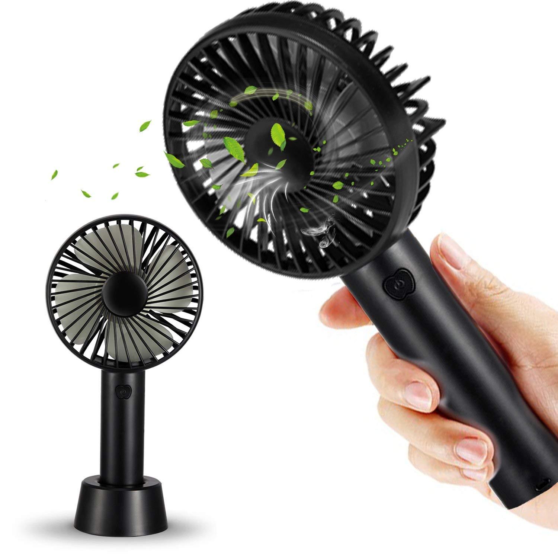 Tarway Mini Portable Fan Tiny Fan, Collapsible Personal Fan USB Rechargeable Battery, Lightweight Handheld Cooling Fan, Electric Desktop Air Fan for Travel, office,Outdoor Activity (mini fan black)