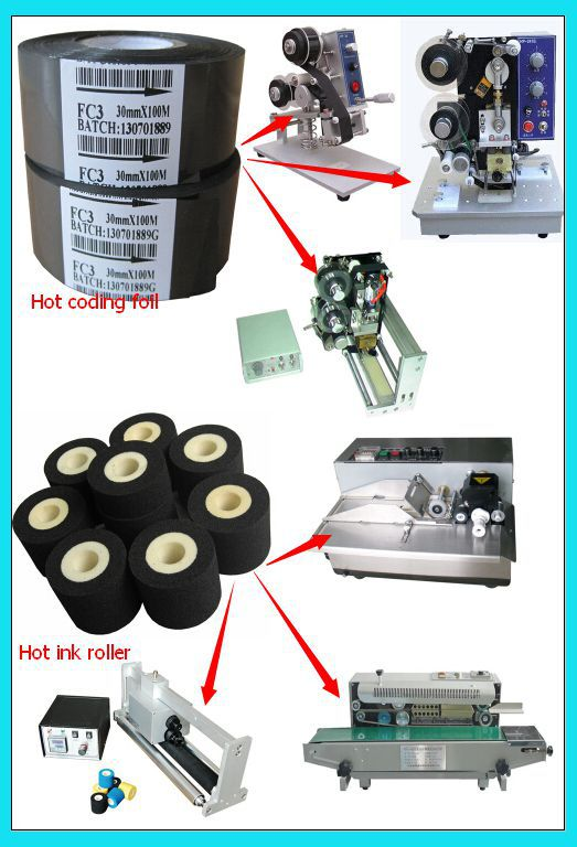 my-380 hot solid ink roll code printing machine used Fineray brand XJ type 36mm*16mm black Hot ink roll