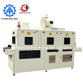 LM-290 Double side UV ultraviolet lighting curing shoe machinery shoe sole making machine