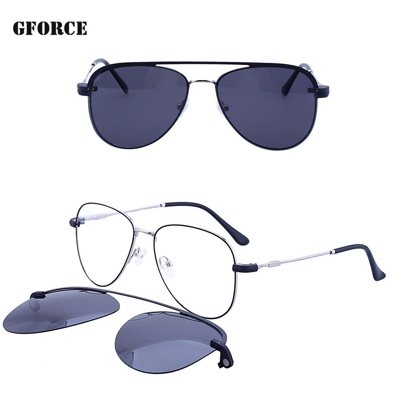 New model best sell UV400 high quality polarized fashion metal stock clip on sunglasses