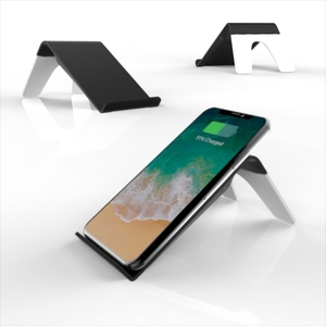 magnetic metal holder with qi wireless charging bracket plate wireless charger with stand for smart phone iPhone X fast charging