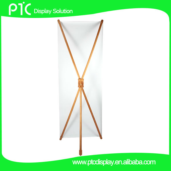 Bamboo X shaped banner