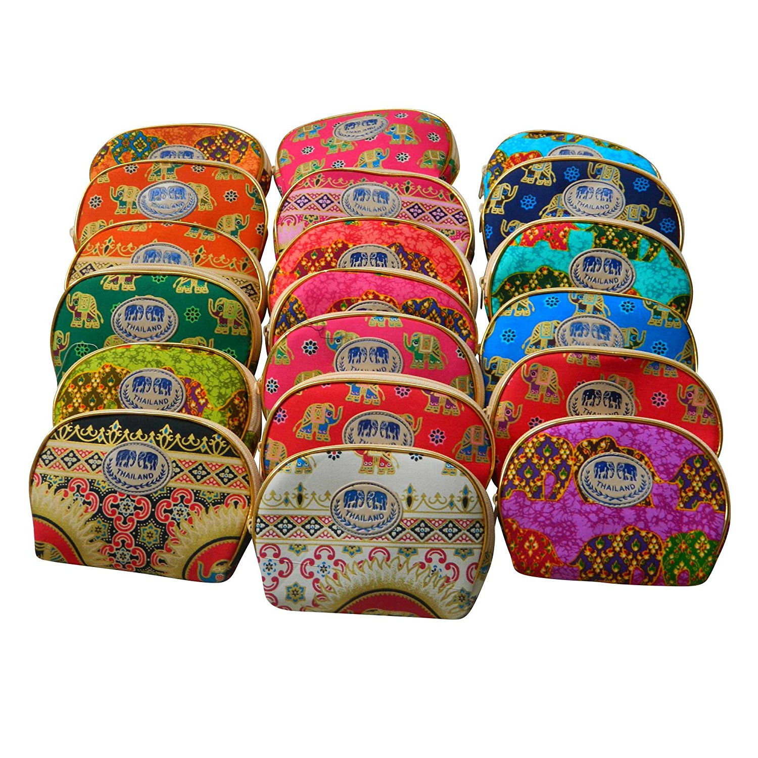 Thai Made Elephant Pattern Cosmetics Bag (Various Random from Picture)