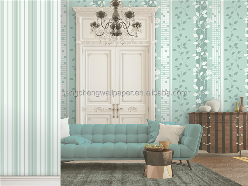American style wallpaper green wallpaper for home house decoration