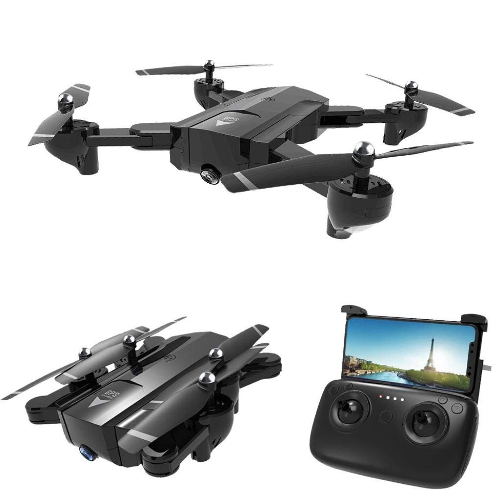 Gbell Kids Adults Drone with HD Camera WIFI FPV, SG900 RC Foldable Quadcopter 2.4GHz Full GPS Fixed Point Quadcopter for Birthday Christmas New Year Gifts,Black Drone (B)
