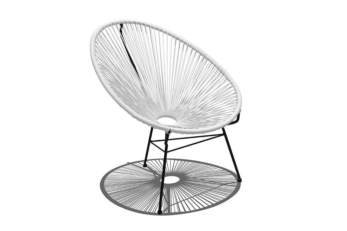 Harmonia Living HL-ACA-LC-WLB Acapulco Lounge Chair, White Lightning