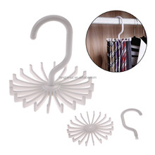 Hot Sales High Quality Rotating Plastic Tie Rack Hook Tie Holder Bag Belt Organizer Closet Clothing Accessory Hanging