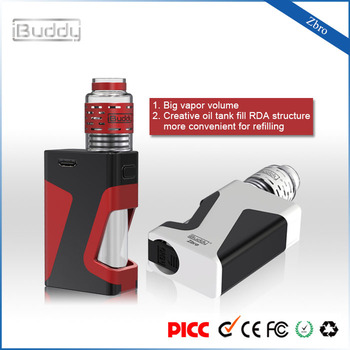 iBuddy Zbro 1300mAh 7.0ml Bottle Easy Refill Glass RDA Vape Mod Vaping