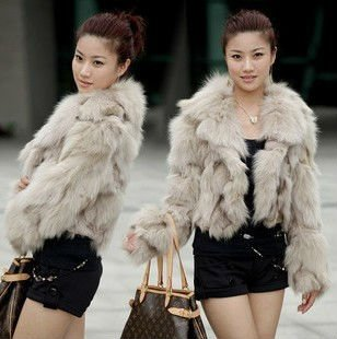 Korea Fashionable Short Fox Fur Coat - Buy Red Fox Fur Coat,Fur ...