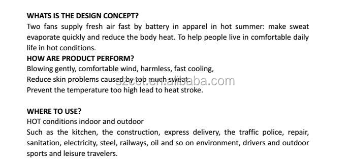 2017 SuperEnergy Air conditioning clothes Cooling fan Work Jacket with battery&fan&charger&clothes