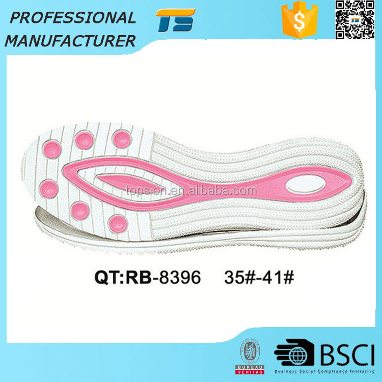 China Non Slip Indoor Leisure Lightweight Rubber Material Ladies Flexible Shoe Sole