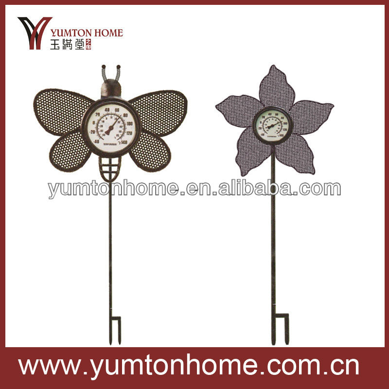 Metal decorative insects and flowers garden stakes