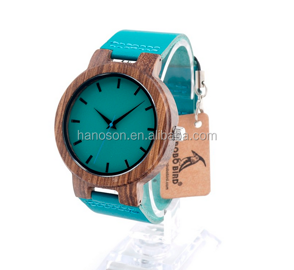 2017 Newly launch wooden watches womens best gift natrual bamboo wooden face wirst watch for <strong>men</strong> and women