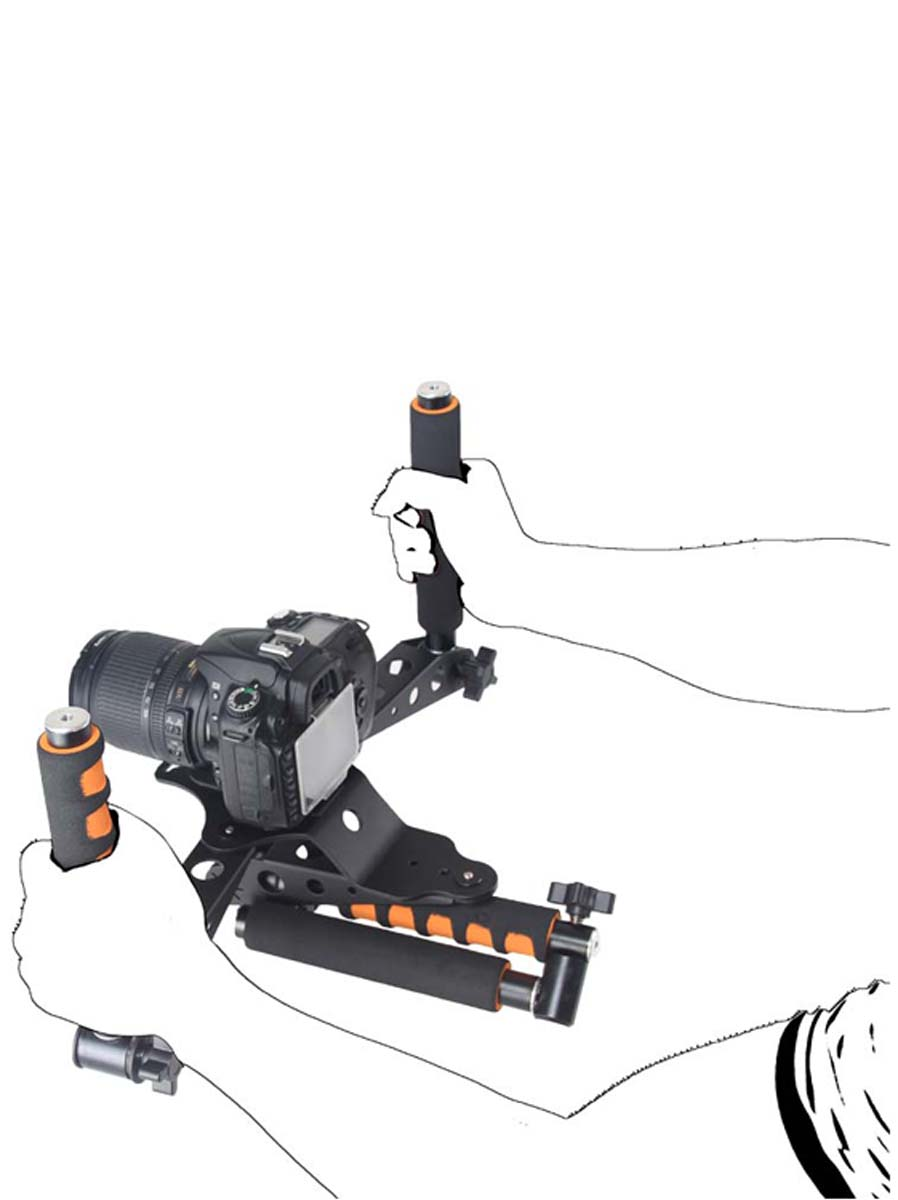 YELANGU Handgrip Light Weight D6 Shoulder Rig for All DSLR Cameras and Camcorders