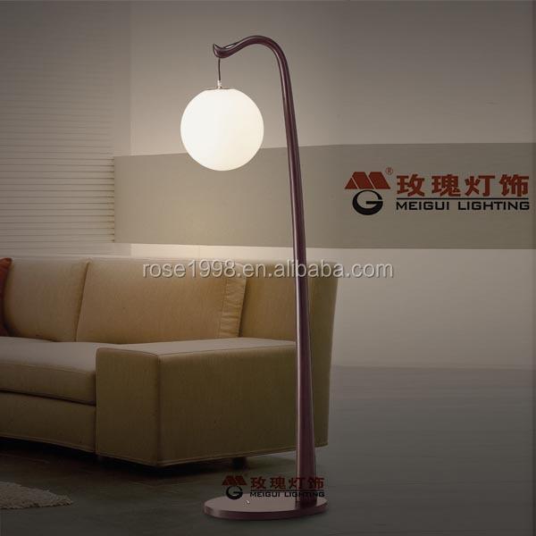 Stylish Project Wooden Arc Floor Lamp