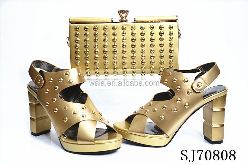 1 Italian bag design for heel blue high and set lady royal SJ70808 fashion shoes pwdqpf