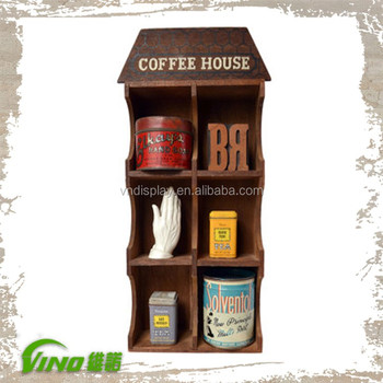 Wall Mount Wood Commercial Coffee Counter Cup Holdersvintage Wood
