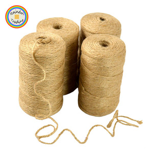 YWDF216 RDT 2mmx100m Three Strands Hemp Rope Roll for Festival Wedding Party DIY Accessories Dyed Color Custom Package Jute Rope