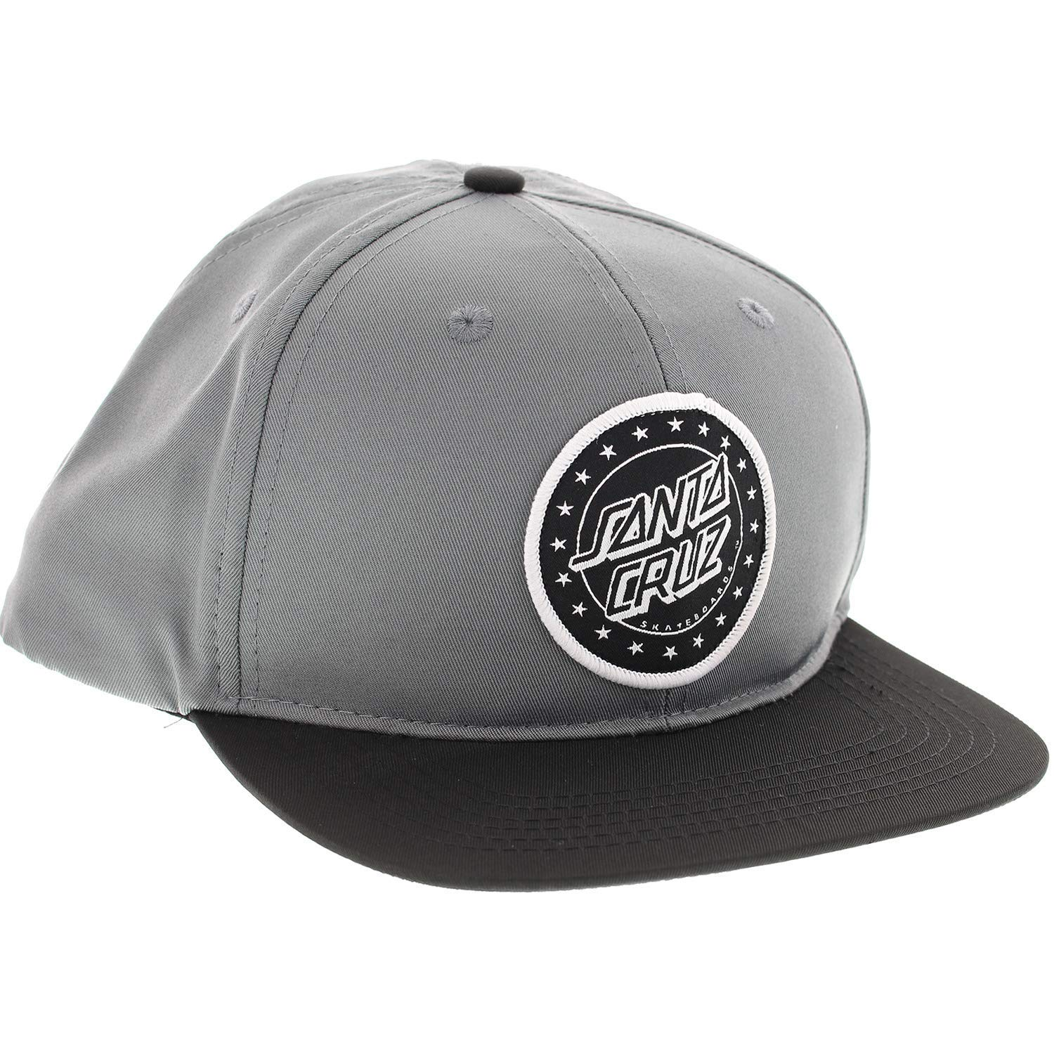 97d7f8542f6 Get Quotations · Santa Cruz Skateboards Spangle Grey Black Hat - Adjustable