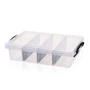 Small clear compartment storage box plastic boxes with lids dividers