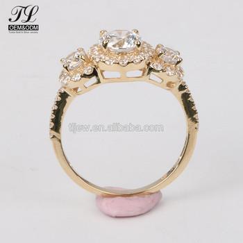 Customized African Wedding Ladies Rings Gold Finger Ring Rings