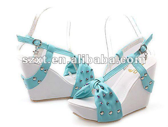 Logo Shoes New Design Lady Summer Shoes Fancy Shoes Xt12082809 ...