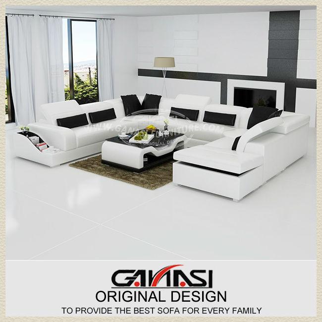 Tradicional mobiliario de sala, estilo moderno de sofás tapizados ...