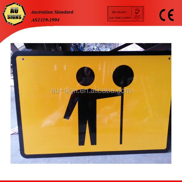 new 2016 Australia standard traffic controll signs(road safety)