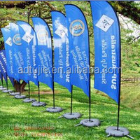 promotion telescopic beach banner teardrop flagpoles