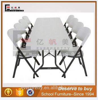 8 Person Plastic Folding Study Table And Chair In Dubai