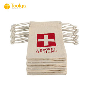 Manufacturer customized full color printed first-aid organic cotton bag