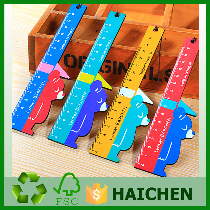 Wooden printed ruler ,student rule,eco-friendly zakka stationery