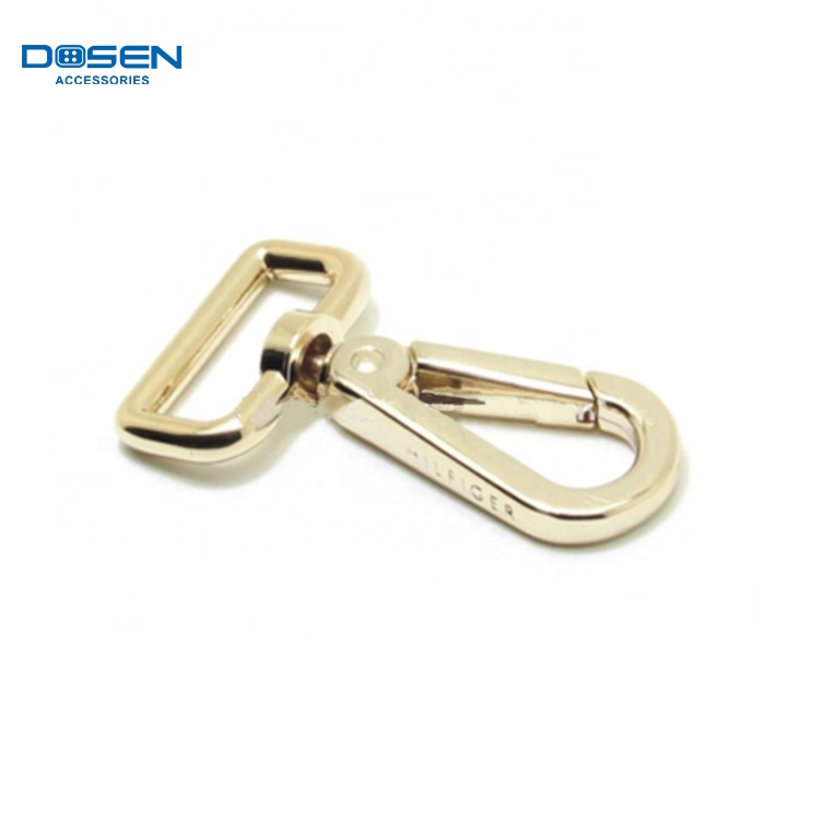 Gold ring buckle bag hardware parts metal slip ring clip handbag belt buckle