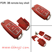 Red Car key cover VW key 3 Buttons Remote VW key shell for proton flip key