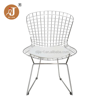 Incroyable Modern Pu Pad Dining Chair Metal Wire Mesh Chair   Buy Wire Chair,Wire Mesh  Chair,Metal Dining Chair Product On Alibaba.com