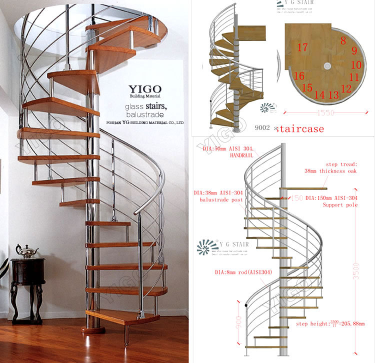 ... Wooden Spiral Staircase/spiral Stair Kits