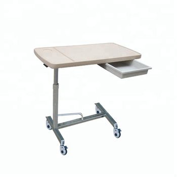 B 52 Movable Hospital Overbed Dining Bed Table With Drawer