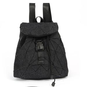 New style canvas backpack black/ blue color bag for school students shoulder bags