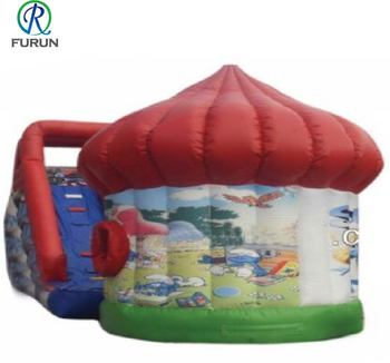 Inflatable mushroom bounce house digital printing jumper for toddlers