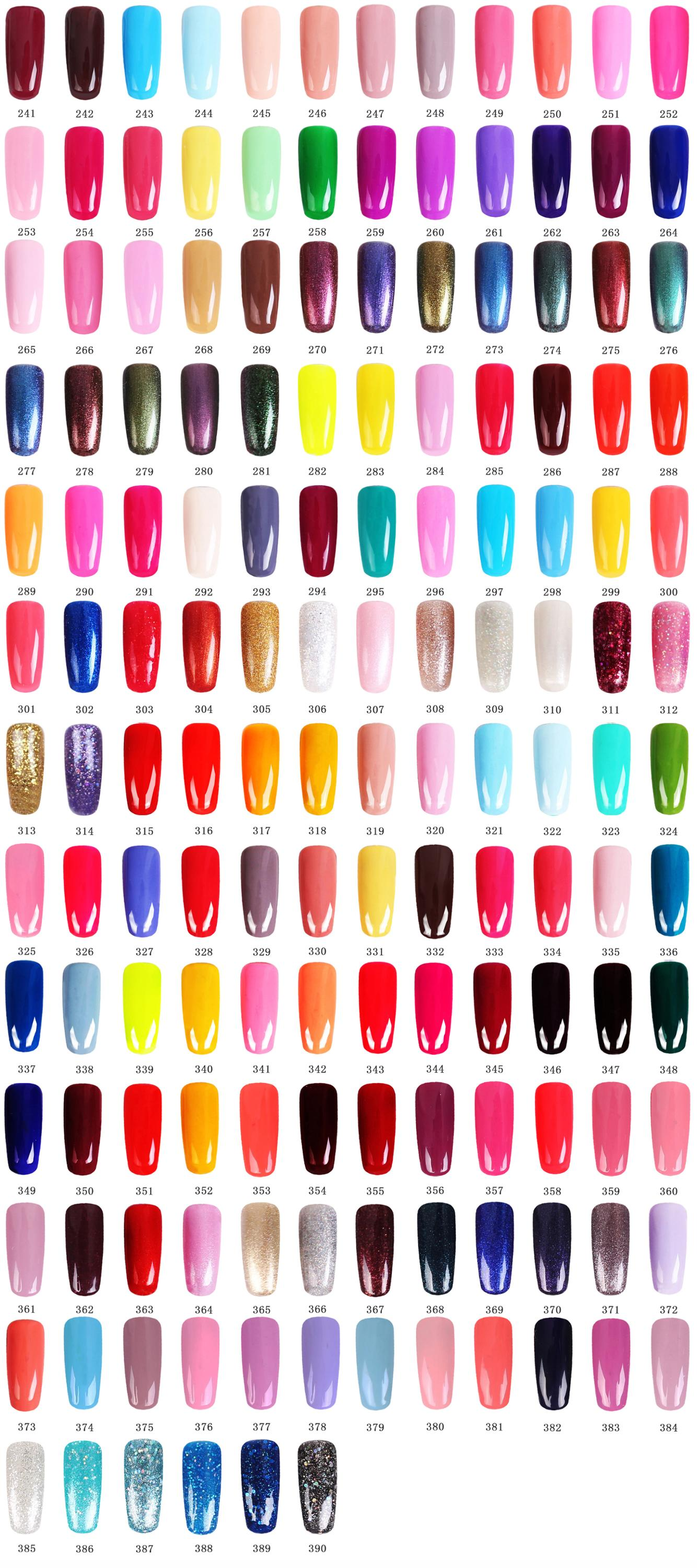 Private Label 390 Colors Gel Nail Polish Oem China Kodi Soak Off Uv ...