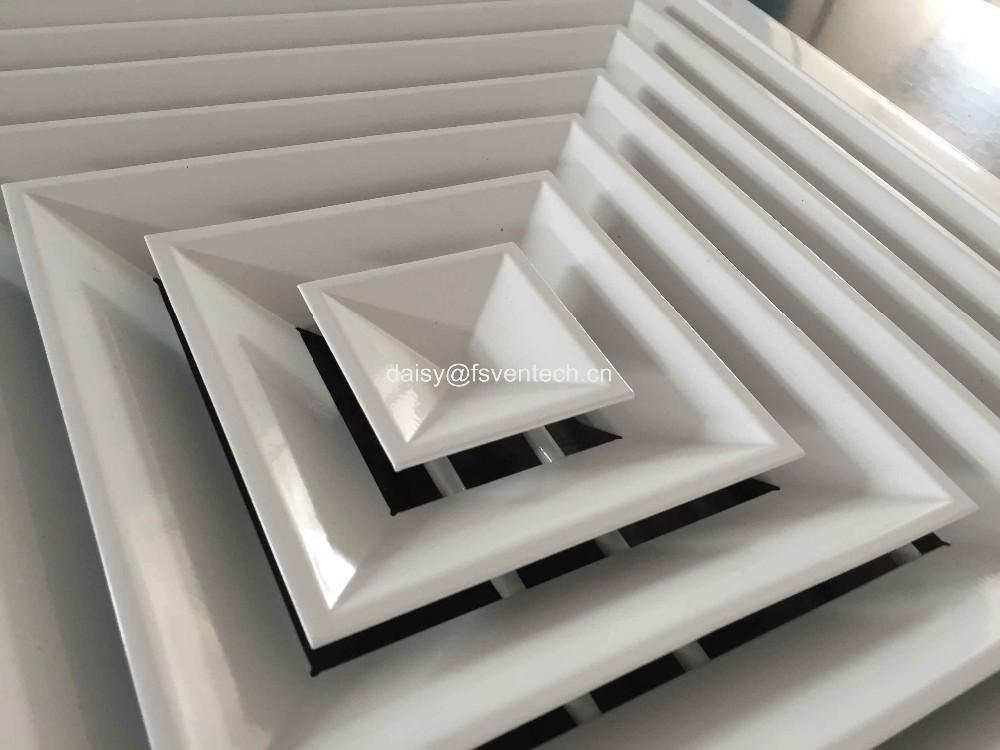 Air Conditioning Diffusers : Air conditioner aluminum square ceiling diffuser door